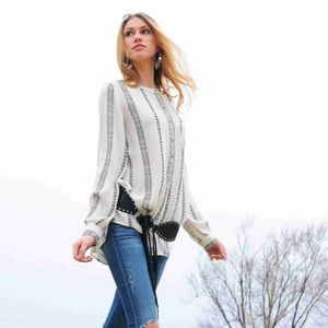 Free People 'Magic' Shibori Gauze Pullover